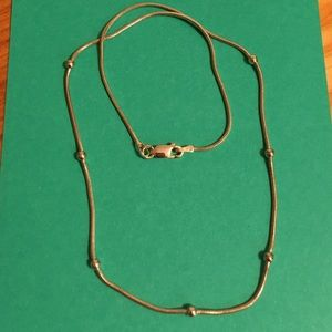 Sterling Silver necklace silver bead accents